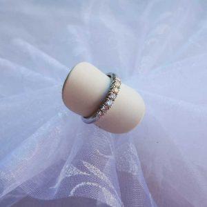Anello donna Riviere in oro bianco e diamanti