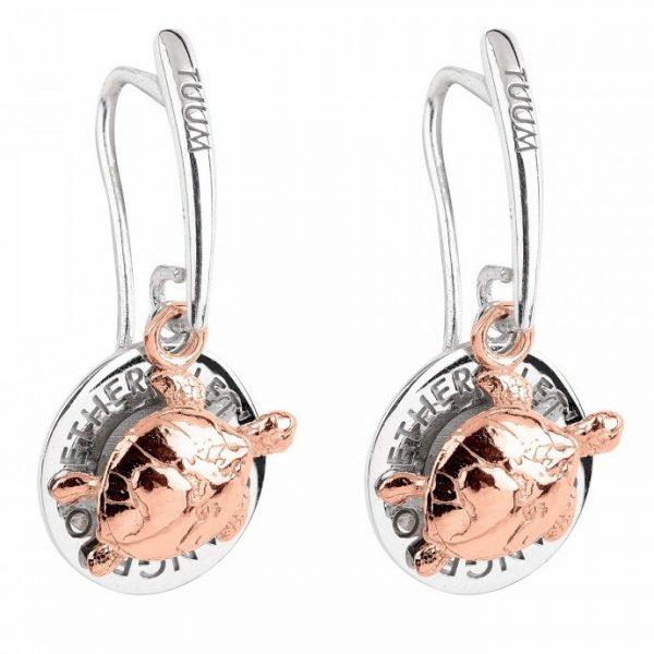 orecchini mini Tuum Gaia in argento 925 e in oro rosa 9kt